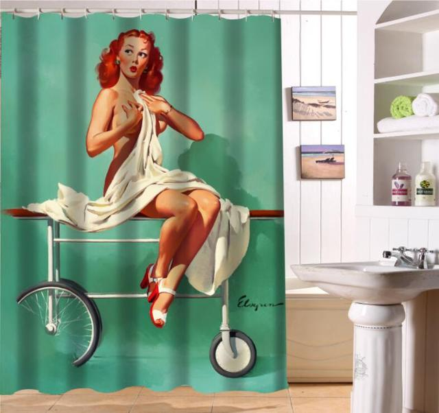 LUQI NEW ARRIVE Pin Up Magician Sexy Woman Personalized Custom Shower Curtain Bath Waterproof MORE SIZE SQ S19