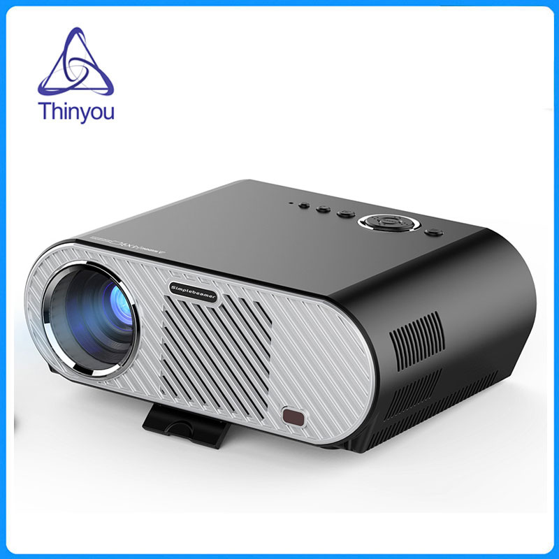 Thinyou LED LCD Projector Android WIFI Player Beamer 1080P Portable Multimedia Meeting Home Cinema LED  LCD 3D Proyector led телевизор sharp lcd 60lx850a 60 wifi 3d