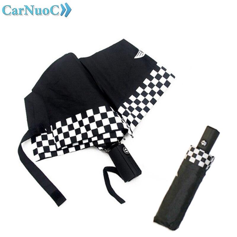 Car FULL Automatic Logo Emblem Umbrella Folding Rain Umbrella For Mini Clubman R53 Mini Cooper R55 R56 R57 R58 R59 R60 R50
