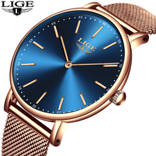2018 NEW LIGE Men Watch Luxury Brand Fashion Gold Ultra Thin Full Steel Quartz Watch Men Business Watches Relogio Masculino стоимость