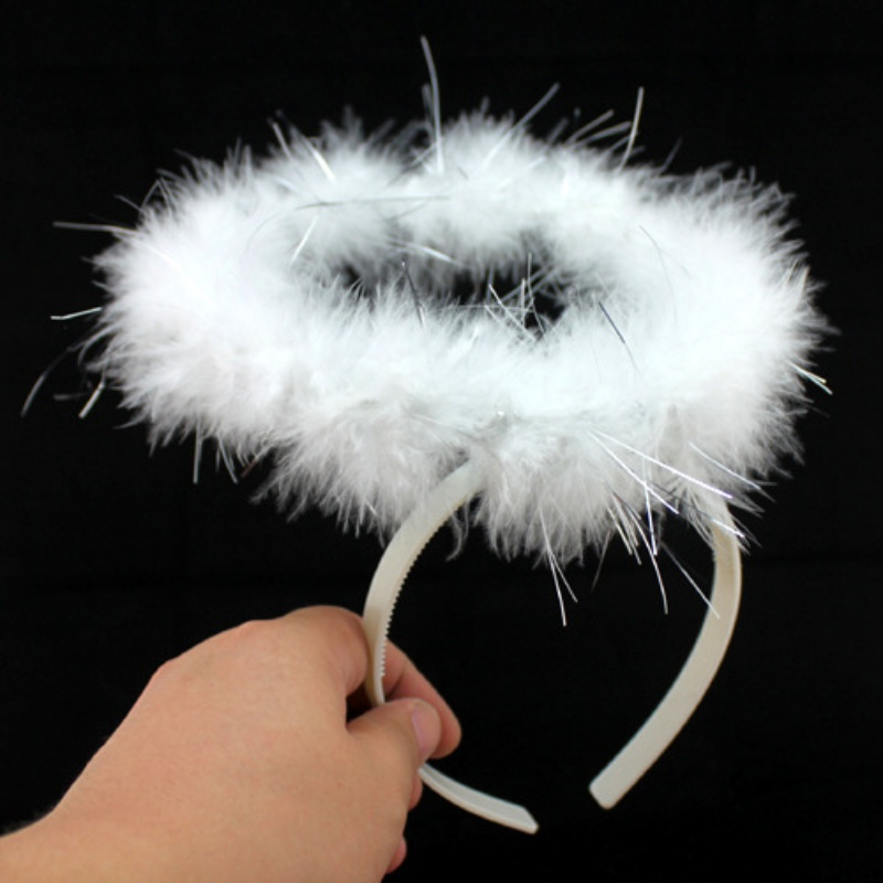 Soft Feather Angel Fairy Halo Headband Christmas Fancy Dress Party Hairband For Children Adults Cosplay Costume