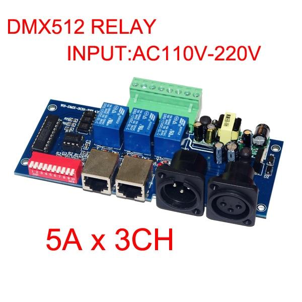 5 kusů doprava zdarma 3CH DMX512 reléový řadič 3 kanály - Osvětlovací příslušenství