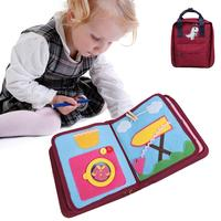 Hot Sale Baby Early Education Cloth Book Gift Bag Set Children's Sounding Paper Book Puzzle Toy