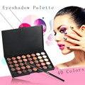 Alta Calidad 40 Colores Establecidos de Las Mujeres Cosmética Facial Maquillaje Paleta Sombra de ojos Sombra de Ojos Herramientas de Cosméticos Personales Con Cepillo