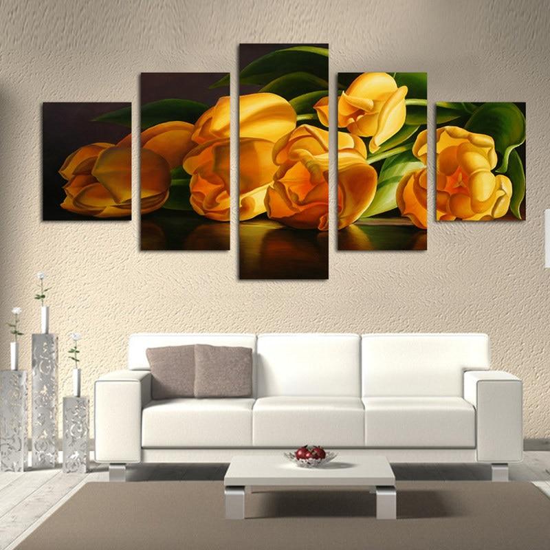 unids lienzo arte de la pared pintura hermosa flor lienzo cuadros para la cocina de
