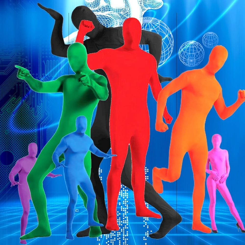 Men Zentai Bodysuit Second Skin Full Body Costume Halloween Cosplay Jumpsuit