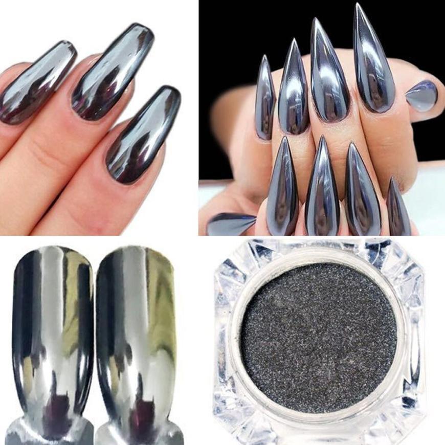 Красота ногтей порошок Женская Мода зеркало лак для ногтей Покрытие серебряной пасты металла Цвет гель Нержавеющаясталь DIY dec8