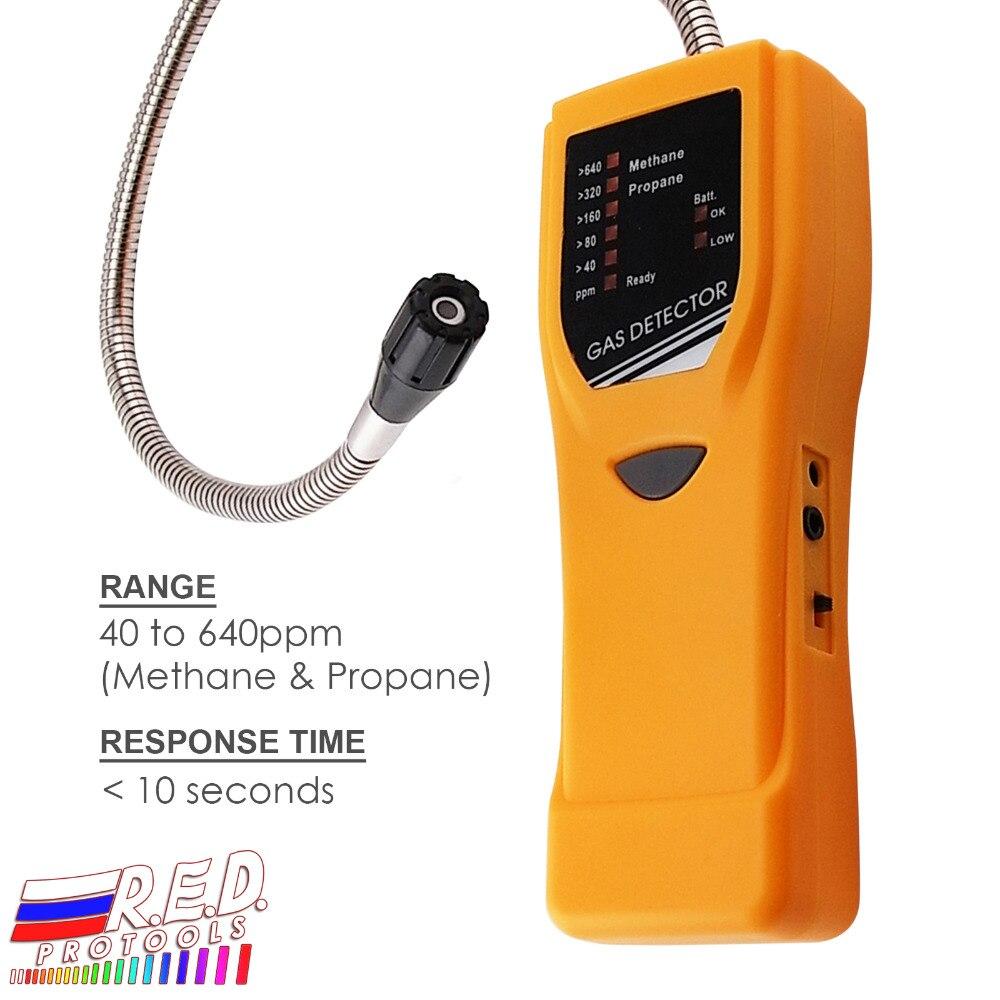Capteur d'alarme de détecteur de fuite de gaz Propane méthane Combustible de précision tenu dans la main de haute sensibilité gamme 40-640ppm + fonction muet
