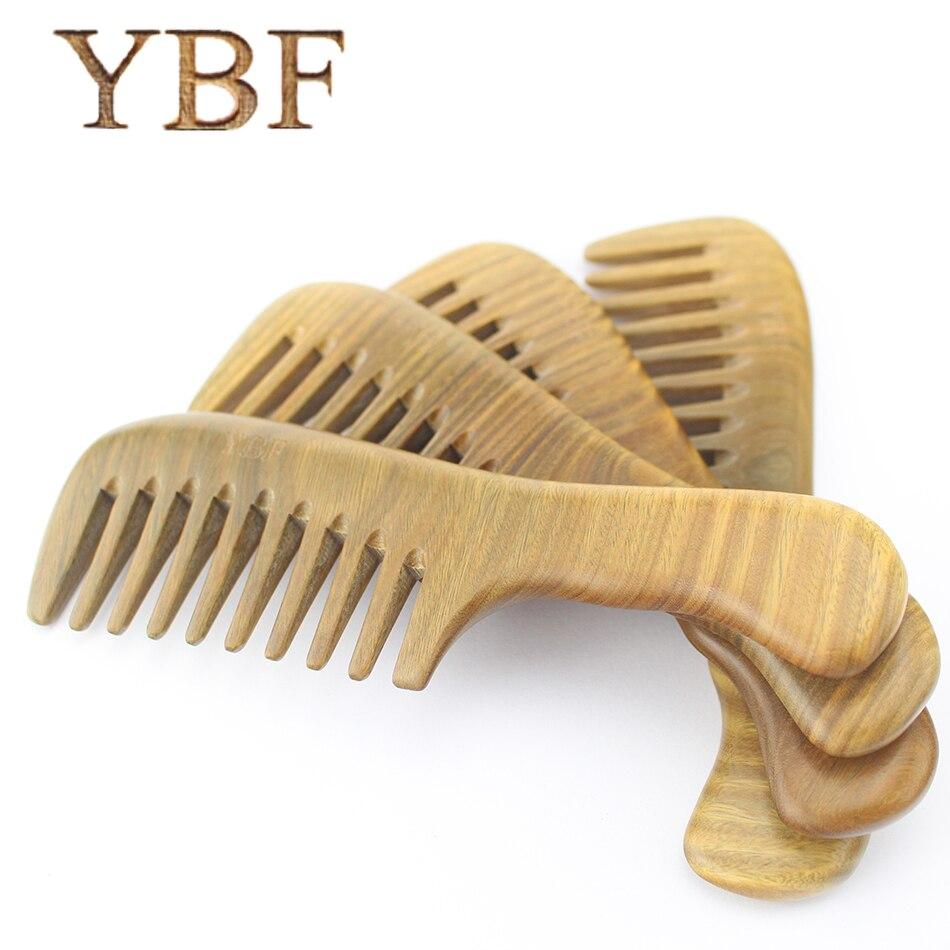 Whole Wood Widen Teeth Green Sandalwood Handle Combs