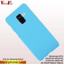 ViewFar Multi Colors Case For Samsung Galaxy A810 A5 A6 A7 A8 2018 Plus Matte Cover A8plus A6plus Hard Thin Plalstic Phone Cases