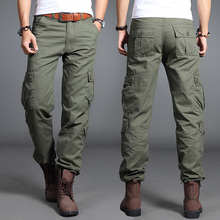 Hot Sale Men's Cargo Pants Casual Mens Pant Multi Pocket Military Overall Men Outdoors High Quality Long Trousers Plus size