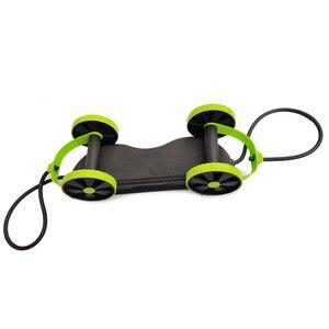 Image 4 - AB 바퀴 롤러 스트레치 탄성 복부 저항 끌어 오기 로프 도구 AB 롤러 복부 근육 트레이너 운동