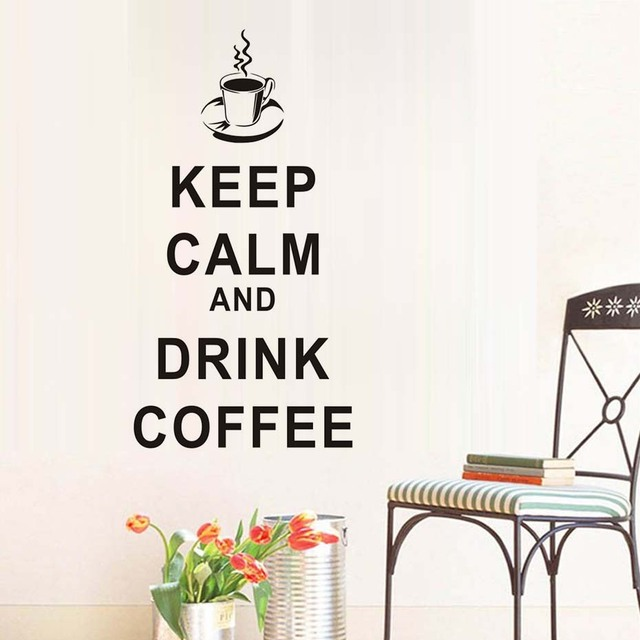 DCTOP Keep Calm And Drink Coffee English Words Wall Stickers Self ...
