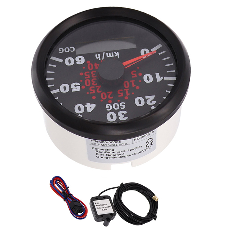 85mm 60KMH GPS Speedometer Odometer IP67 Waterproof Speed Gauge Meter 120KMH with backlight 12V 24V fit Car Truck Boat 12v 24v 85mm gps speedometer waterproof for car motorcycle boat yacht vessel with blue backlight