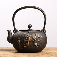 Tetsubin chinese cast iron teapots Ancient iron kettle Japanese Style tea ceremony craftsman Handcrafted 44oz (1.3L)