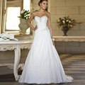 Sweetheart A-Line Wedding Dress Women 2015 Simple Cheap China Made Bride Vestido De Novia Lace-up Wedding Gowns Custom Size