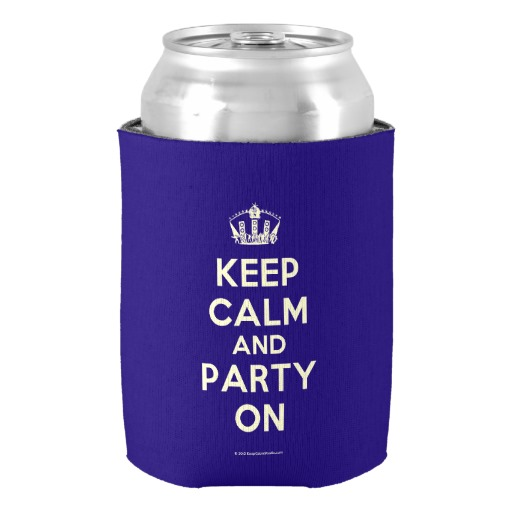 Popular Dark Blue Keep Calm And Party On WeddingBirthday Party