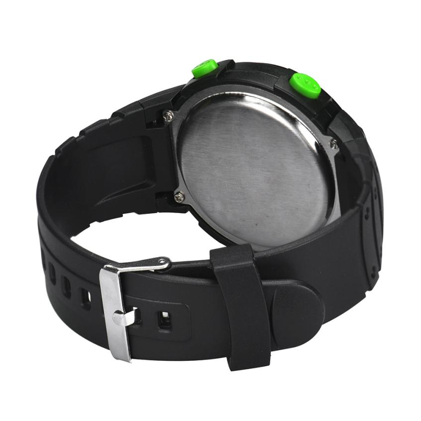 HF 2018Fashion Waterproof Men's Boy LCD Digital Stopwatch Date Rubber Sport Wrist Watch Levert Dropshipa Box F825 5