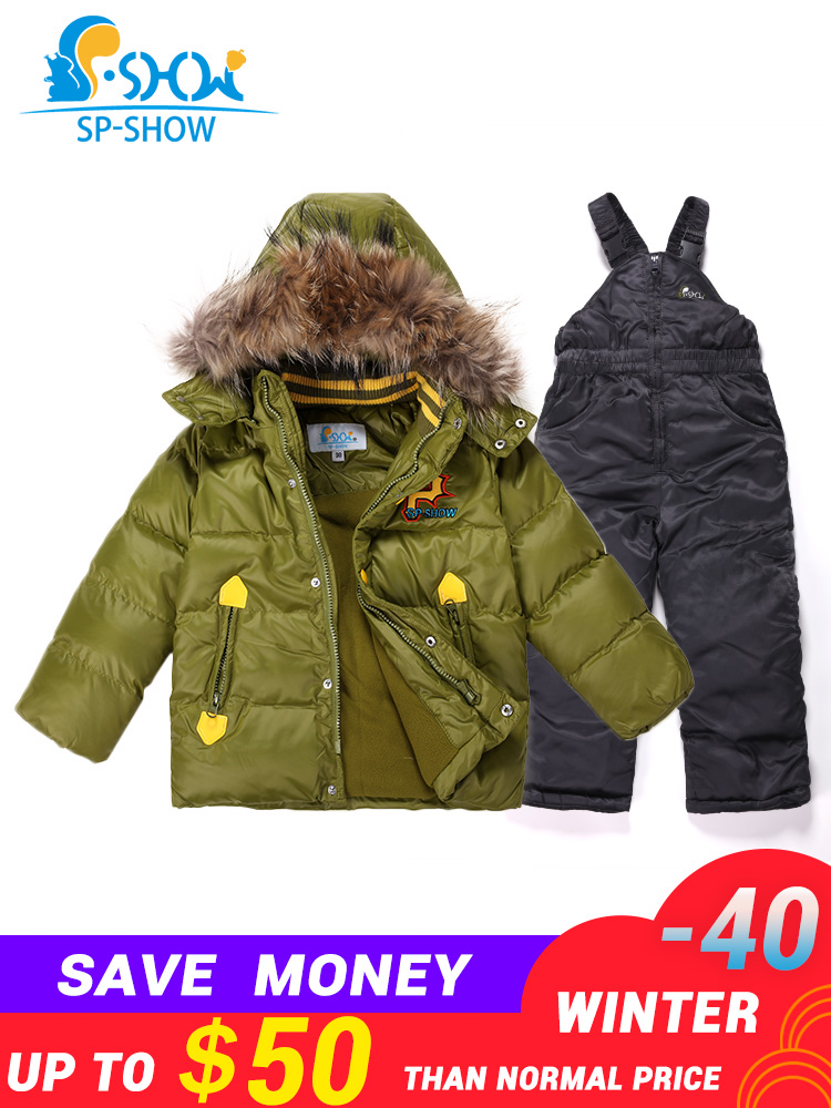 f9a79c56bef US $73.26 63% OFF|2019 Winter Children Jackets Hooded Boys Winter Jacket  Boy Parkas Two Piece Set Kids Brand For 2 6 Age SP SHOW Snowsuit 95020-in  ...