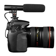 Nueva Llegada Negro Estudio Profesional Micrófonos de Grabación Estéreo de 3.5mm Para La Cámara de Vídeo Digital para Canon para Nikon