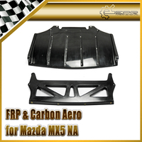 Car styling FRP Fiber Glass Jet Stream Rear Under Diffuser Quad Fin Fiberglass Bottom Panel Fit For MX5 NA Roadster (NA rd 04)