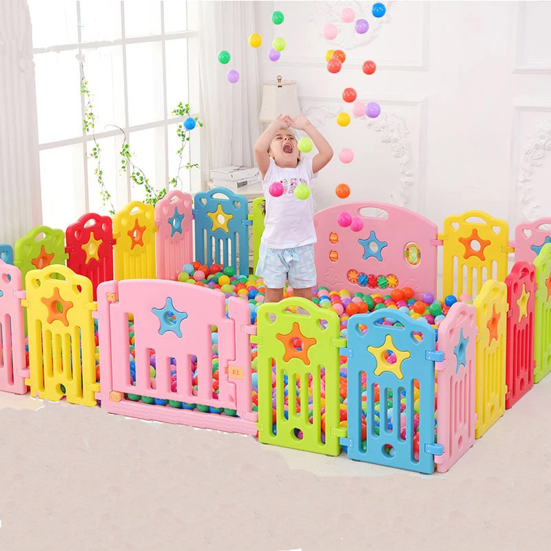Indoor Baby Playpen Outdoor Kids Play Games Fence Toddler Crawl Protection Rail Educational Baby Gear Children Safety Play Yard