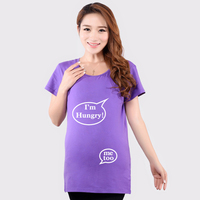 Funny maternity tops soft cotton summer pregnancy shirts maternity clothes for pregnant women 4color short sleeve maternity wear
