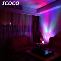 ICOCO 12 LEDs Ocean Wave Diamond Shape Projector Remote control Night Light with Mini Music Play Gift for Home Bedroom Decor