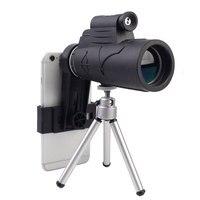 50X Monocular Telescope HD Mini Monocular Outdoor Illumination Hunting Camping Scopes With Compass Phone holder Tripod