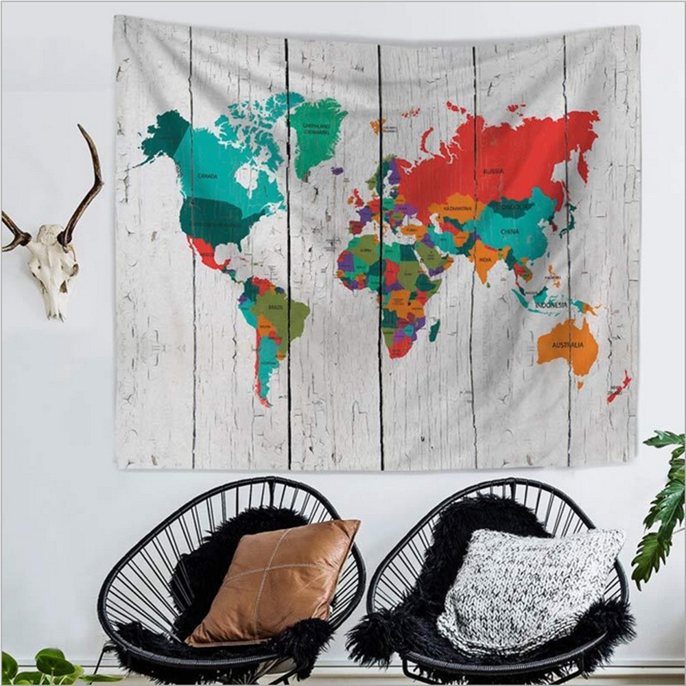 Home decor polyester fabric world map tapestry wall hanging throw home decor polyester fabric world map tapestry wall hanging throw bohemian door curtain bedspread home decoration accessories in tapestry from home garden gumiabroncs Choice Image