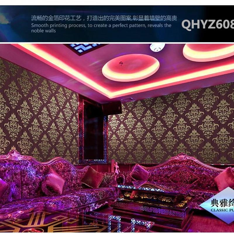 ФОТО Q QIHANG European Style Luxury Gold Foil  TV  Background Wallpaper