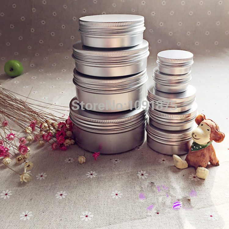 50pcs/lot 5g 10g 15g 20g 30g 40g 50g Aluminum Jars 5ml 10ml 15ml 20ml 30ml 40g 50ml Empty Cosmetic Metal aluminum Tin Containers-in Refillable Bottles from Beauty & Health