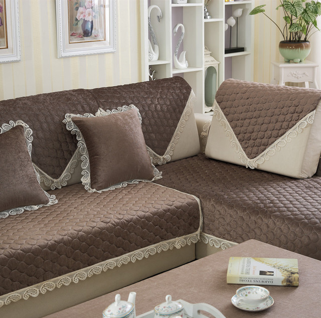 New European Minimalist Modern Fashion Lace Sofa Mats Four Seasons Universal Cover Non Slip