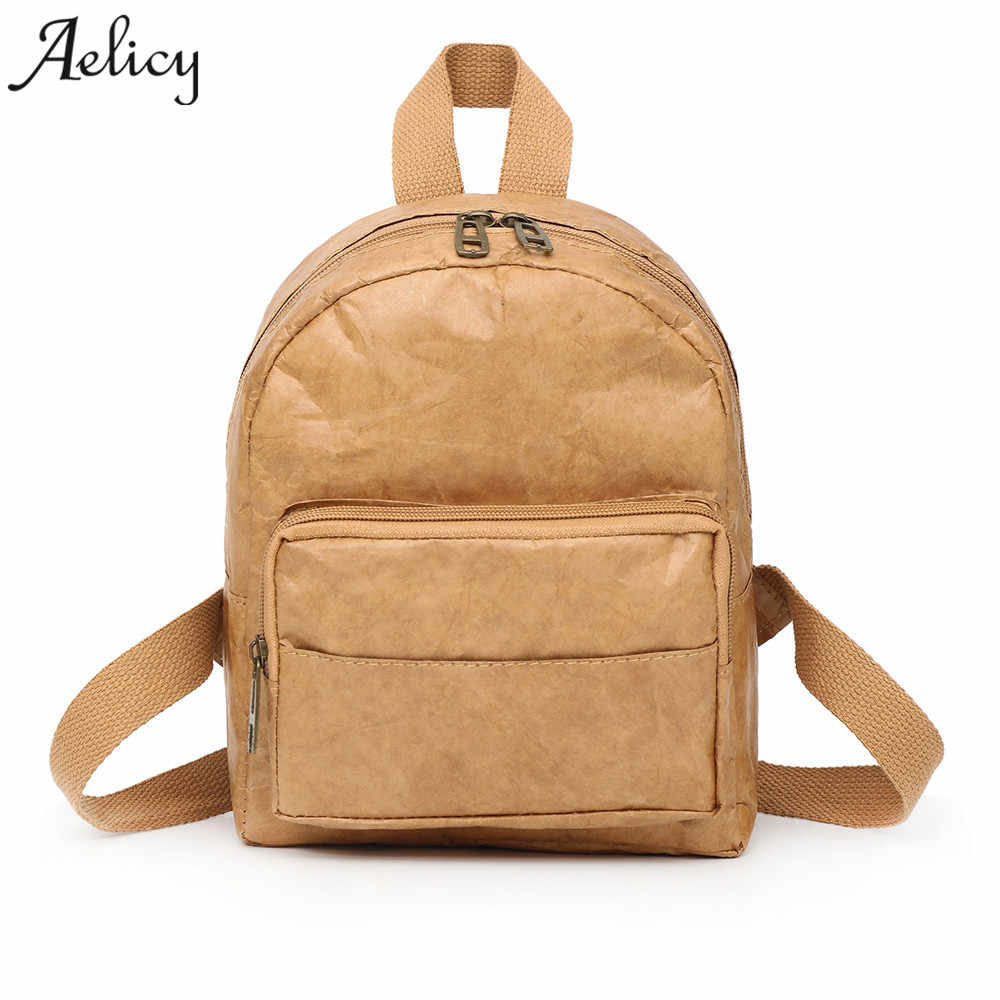109e17d0aae Aelicy New Design Kraft paper Backpack Women Backpack For Teenage Girls  School Bags Lady s Small Backpacks