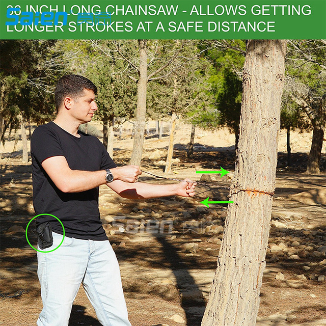 Survival Pocket Chain Saw Chainsaw 24 Inches Portable Hand Saw For Camping Hiking Backpacking Hunting Boy-scouts Emergency Gear 5