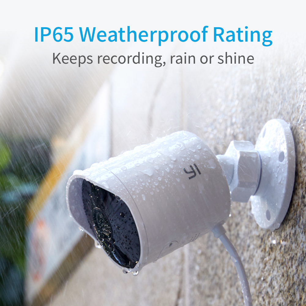 Image 4 - YI Outdoor Security Camera SD Card Slot &Cloud IP Cam Wireless 1080p Waterproof Night Vision Security Surveillance System White-in Surveillance Cameras from Security & Protection