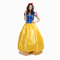 Freeshipping New arrival Classic fairy tale white snow princess adult costume Halloween ladies costume Long dress with petticoat
