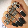 Fashion Flower Stone Midi Ring Sets Crown Star Moon Vintage Crystal Opal Knuckle Rings for Women Anillos Mujer Jewellery 10PCS