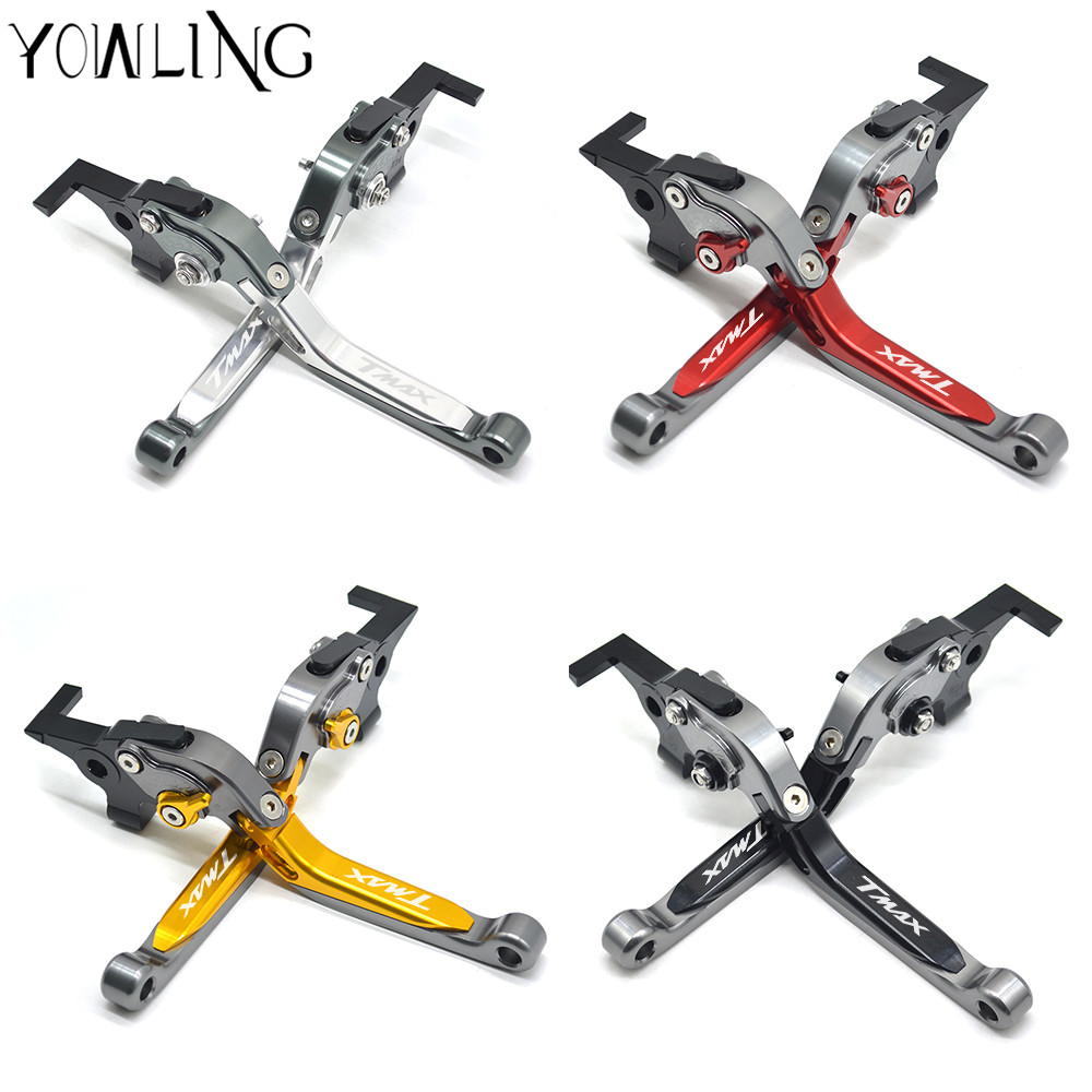 CNC adjustable motorcycle brake clutch levers For Yamaha TMAX530 TMAX 500 T-MAX530 T-MAX 530 tmax-500 2003 2004 2005 2006 2007 for yamaha bt1100 bulldog 2003 2004 motorcycle accessories cnc aluminum adjustable short brake clutch levers gold