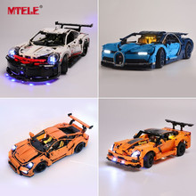 MTELE Kit de luces para coche Compatible con 42083/10220/21108/42056/10242/10269/42096/42093/10248/10258/10265/