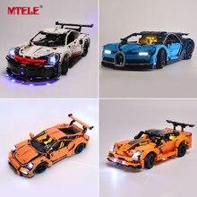 MTELE zestaw oświetleniowy dla Technic/CarLight zestaw kompatybilny z lego 42083/10220/21108/42056/10242/10269/42096/42093/10248/10258/10265