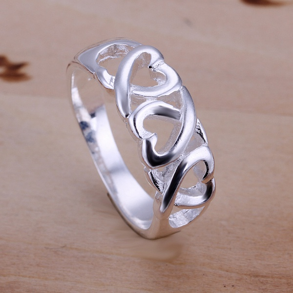 hot sell factory price Silver color Wedding weomen lady Ring , Jewelry nice cute charming fashion Free shipping R090