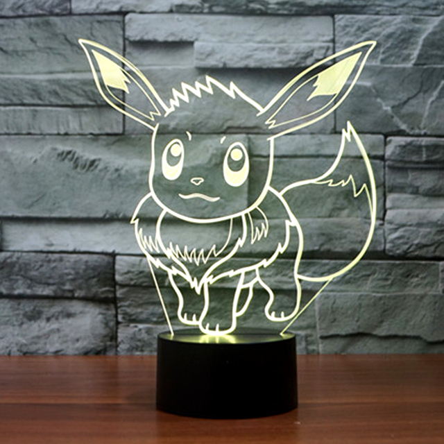 Pokemon Go Game Figure Eevee 3D USB LED Lamp