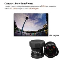 7artisans 7.5mm F/2.8 Wide Angle Fisheye Lens 180 Degree Multi-coated for Sony