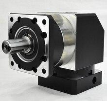 Ad angolo retto 90 gradi planetary gearbox reducer 2 fase di rapporto di 15:1 a 100:1 per 80 MILLIMETRI 750W AC servo motore albero di ingresso 19 millimetri