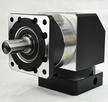 right angle 90 degree planetary gearbox reducer 2 stage ratio 15:1 to 100:1 for 80MM 750W AC servo motor input shaft 19mm