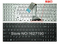 Free Shipping NEW US Layout Letter Laptop Keyboard For ASUS K56 BLACK Without Frame Without Foil