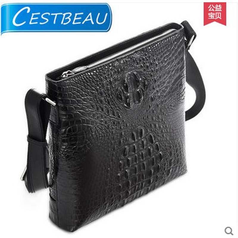 все цены на  Cestbeau imported crocodile leather men bag single shoulder bag men's bag  business casual bag freeshipping 2017 new arrival  онлайн