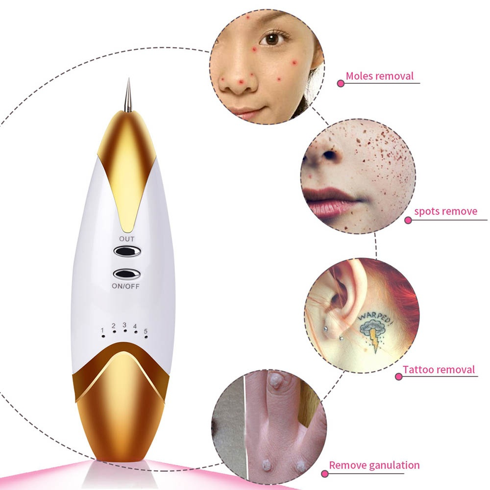 Electric Portable Facial Cleansing Devices Tattoo Spot Freckle Fleshy Nevus Removal Mole Remover Pen Beauty Replaceable Needles