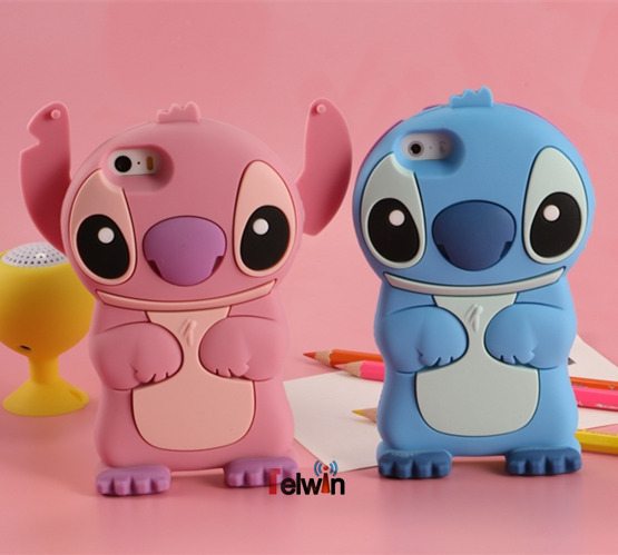 Cartoon Stich Silicon Case 3D Cute Silicone Cover iPhone 6 Cases Fashion Lilo Stitch Cell Phone 6plus - TelWin Technology co.,ltd store